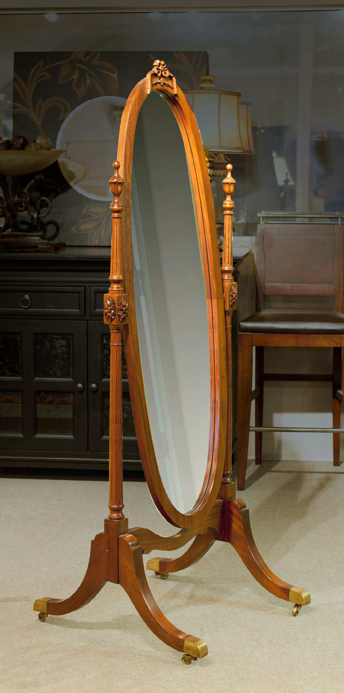 MF150 - Carved Cheval Mirror