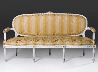 Ch500s Louis XVI Style Sofa