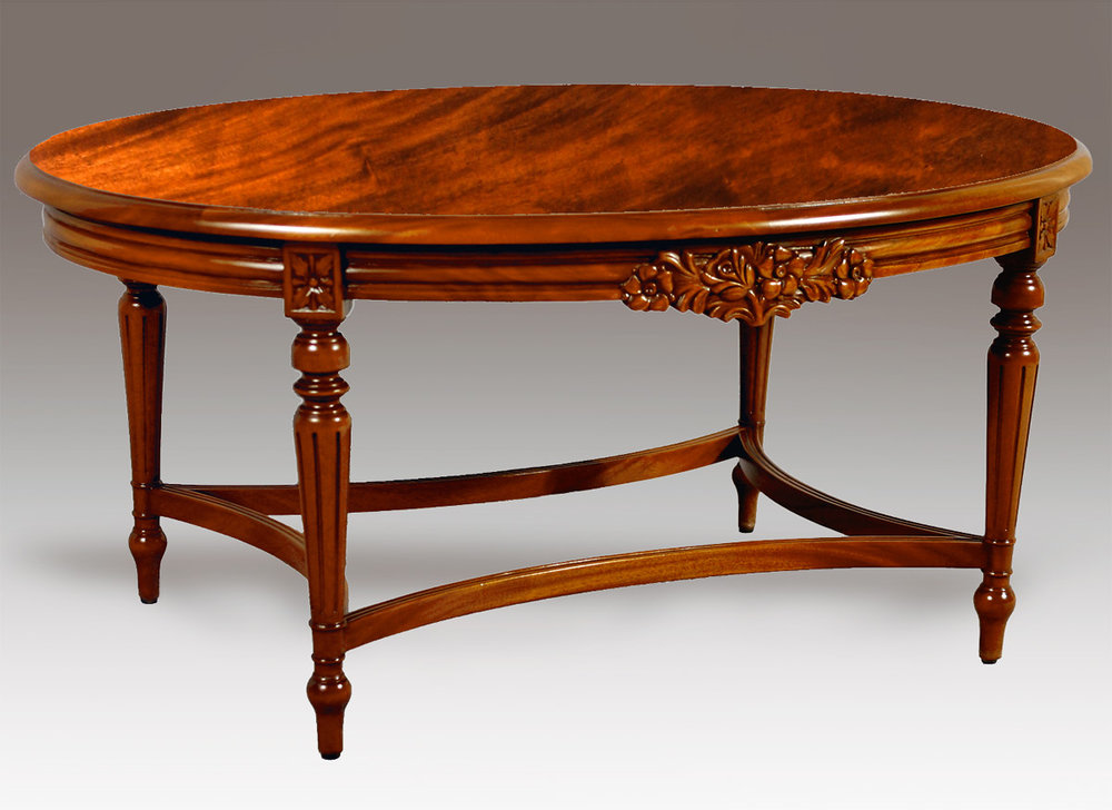 TA88CT - Oval Louis XVI Cocktail Table