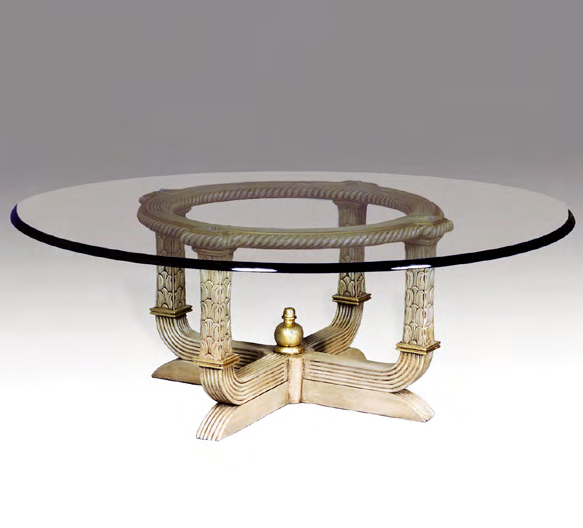 TA3177CT - Round Reeded Cocktail Table