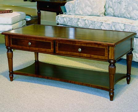 TAOC21 - Rectangular Louis XVI Coffee Table with Beaded Edge