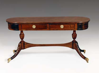 TA723 - Regency Console Table with Two Drawers