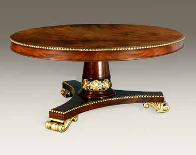 TA417-72R - Hand Carved Empire Round Dining Table