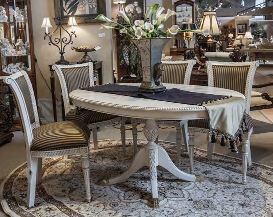 TA702 - Custom Sheraton Style Oval Table with Carved Edge
