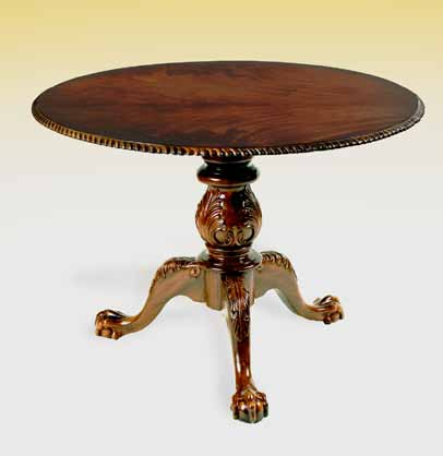 TA703R - Carved Chippendale Breakfast Table