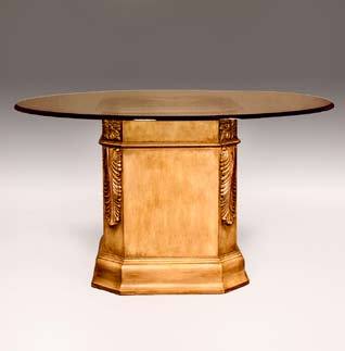 TA4704 - Carved Acantus Dining Pedestal
