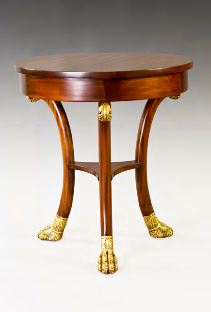 TA812 - Carved Neoclassic Lamp Table