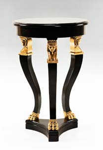 TA009S - Carved Empire Style Small Accent Table