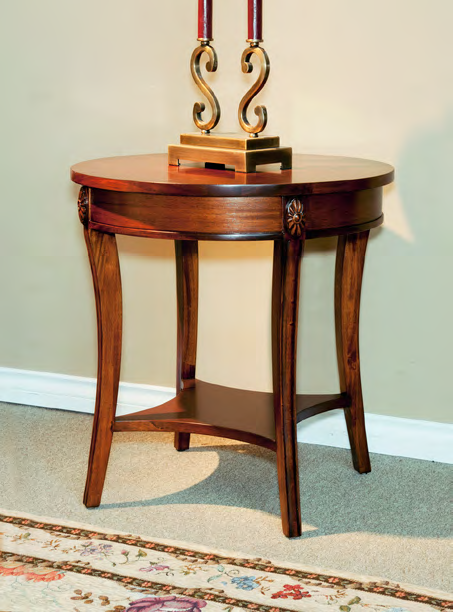 TA9045 - Neoclassic Round End/Lamp Table