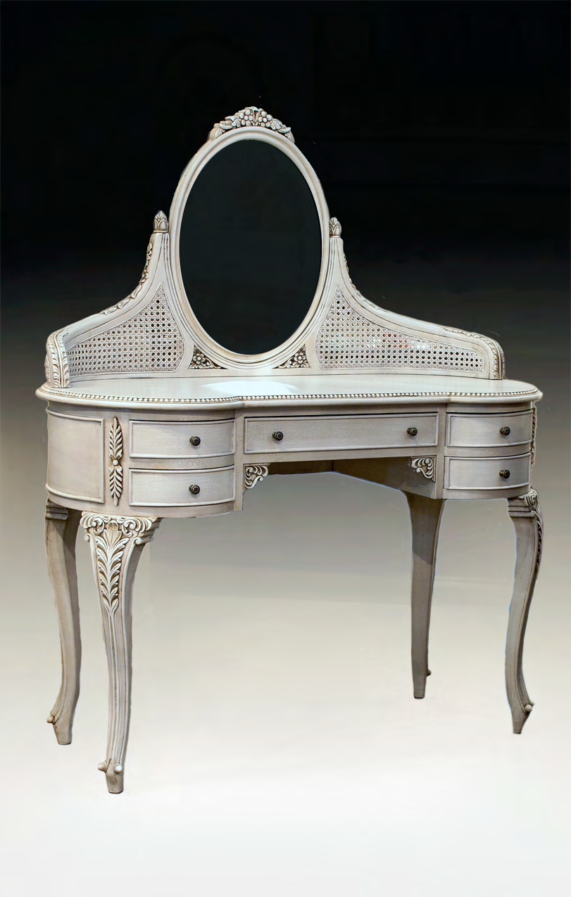 TA1521 - Louis XVI Style Dressing Table with Mirror