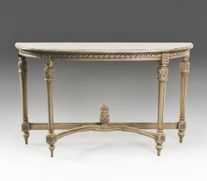 TA3036 - Louis XVI Wood Top Console/ Hall Table