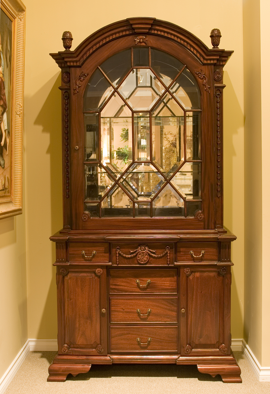 CA 5184 CHIPPENDALE DISPLAY CABINET p.jpg