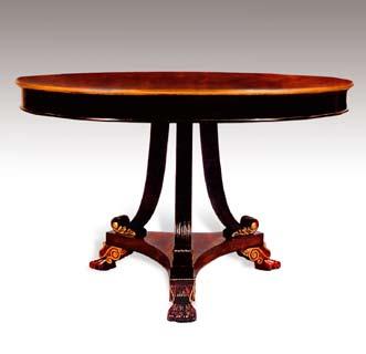 TA418 - Carved Regency Dining Table