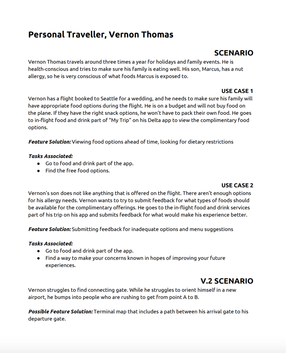 Scenario & Use Case
