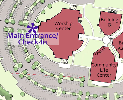 Click map to view entire main campus.