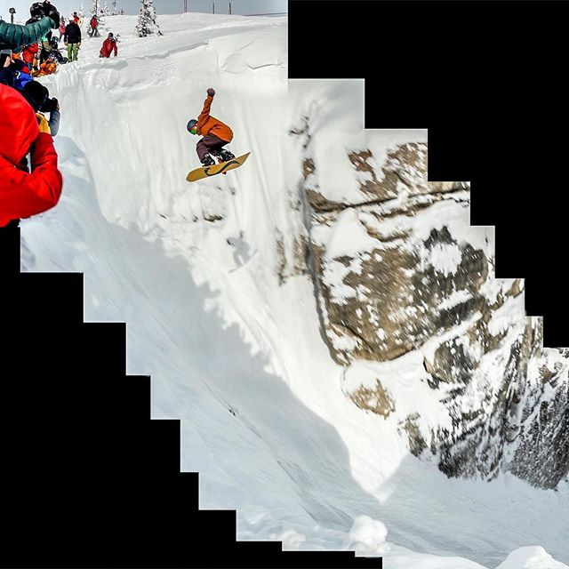 Compiled screengrabs from yesterday's madness. Our favorite boarder @_mikeymarohn launching a massive Cab 5 into Corbet's as part of #JHKingsandQueens. What an event @jacksonhole !! 👑⚔️👑
