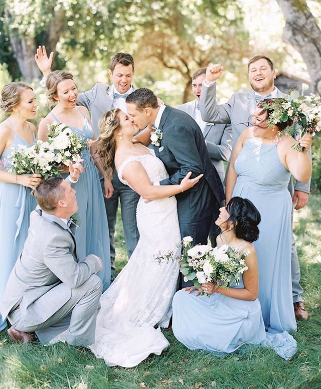 Cheers to KATE & Will!!😍Our Carmel Bride and Groom!  Hair by Salina #muahsalinacarter and Makeup by Tylar!  #muahtylarleonard ♥️💕💍#nailedit . Photo by @taralynnlawtonphoto . We have had 3 weddings go on today in Livermore, San Rafael and Half Moon Bay!  Who's getting married this year and where!?😍