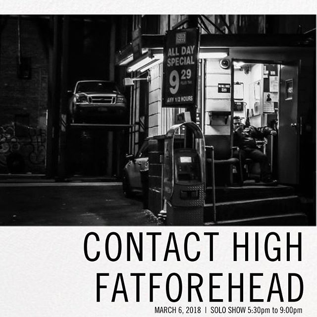 "The Piranha Shop is pleased to present 'Contact High' the first solo exhibition by @fatforehead aka Eddie Rehfeldt this Tuesday, March 6 from 5:30 to 9 PM • Rehfeldt was born in Chicago and raised around the world. He started photographing in high school, traveling in Asia during the summers and living in the American South for the rest of the year. These early, globetrotting years established his style and fascination with isolation and communication. After dropping out of college, he landed in New York City and fell in love with music and street photography. In 1991, Eddie moved to Seattle and joined forces with Josh Taft to create Cowboy Films. Their award-winning music videos for Cypress Hill (""Insane in the Membrane""); Tribe Called Quest (""Award Tour""); De la Soul (Fallen); Stone Temple Pilots (""Sex Type Thing"" and ""Plush""); Alice in Chains (""Would""); and Pearl Jam (""Even Flow"" and ""Oceans"") defined music videos for a generation. In 1997, he wrote and directed ""AFTER,"" which was in competition at the Sundance Film Festival and the Seattle International Film Festival. Since then as Fatforehead Eddie has photographed bands and their fans at festivals, including the Sasquatch Music Festival and Bumbershoot Arts and Music Festival. Those images have been published in renowned music publications such as Rolling Stone and SPIN. There are plans to take ""Contact High"" to New York and Los Angeles in the fall of 2018. He proudly lives on Phinney Ridge."""