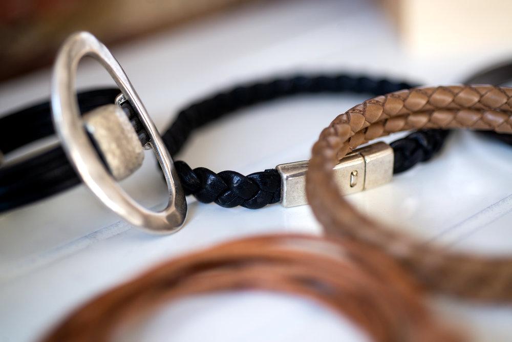 Leather wristwear
