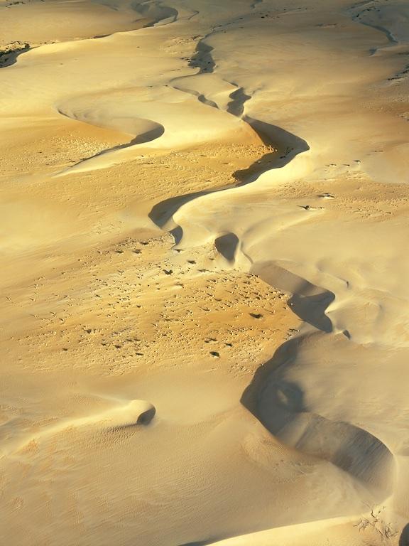 Pinnacle desert, Nambung National Park, Western Australia, Australia.  Sand dunes with limestone formations.
