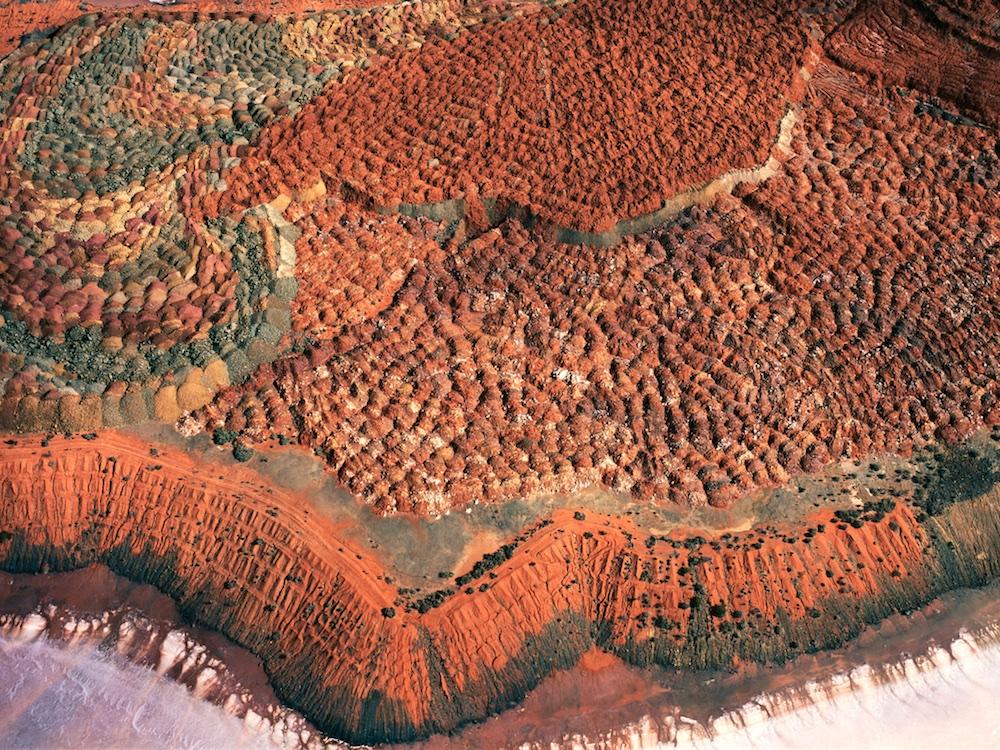 Waste ore dump, Lake Lefroy, south of Kalgoorlie, Western Australia, Australia.  Gold and nickel operation near Kambalda.