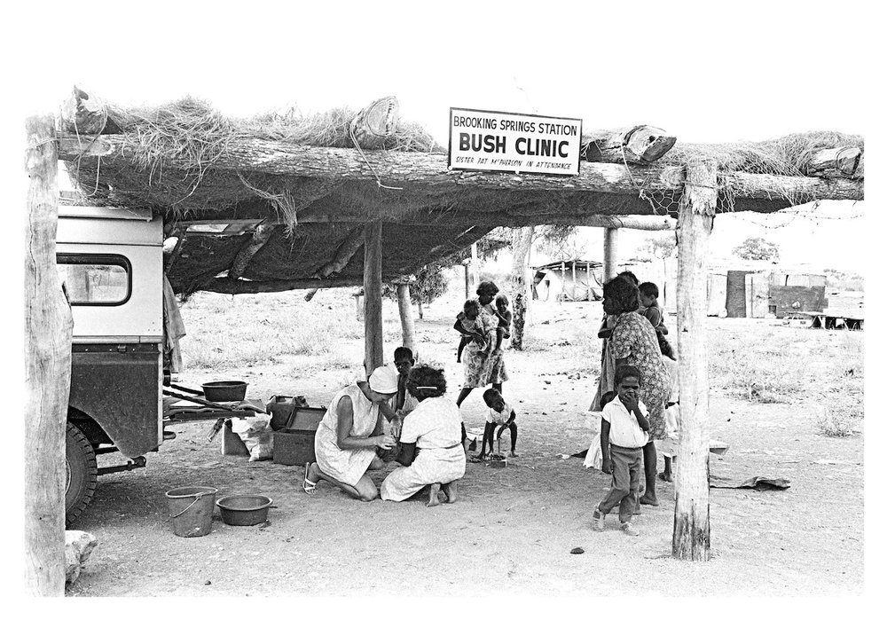 Bush Clinic at Brooking Springs Station, Kimberley WA, 1965