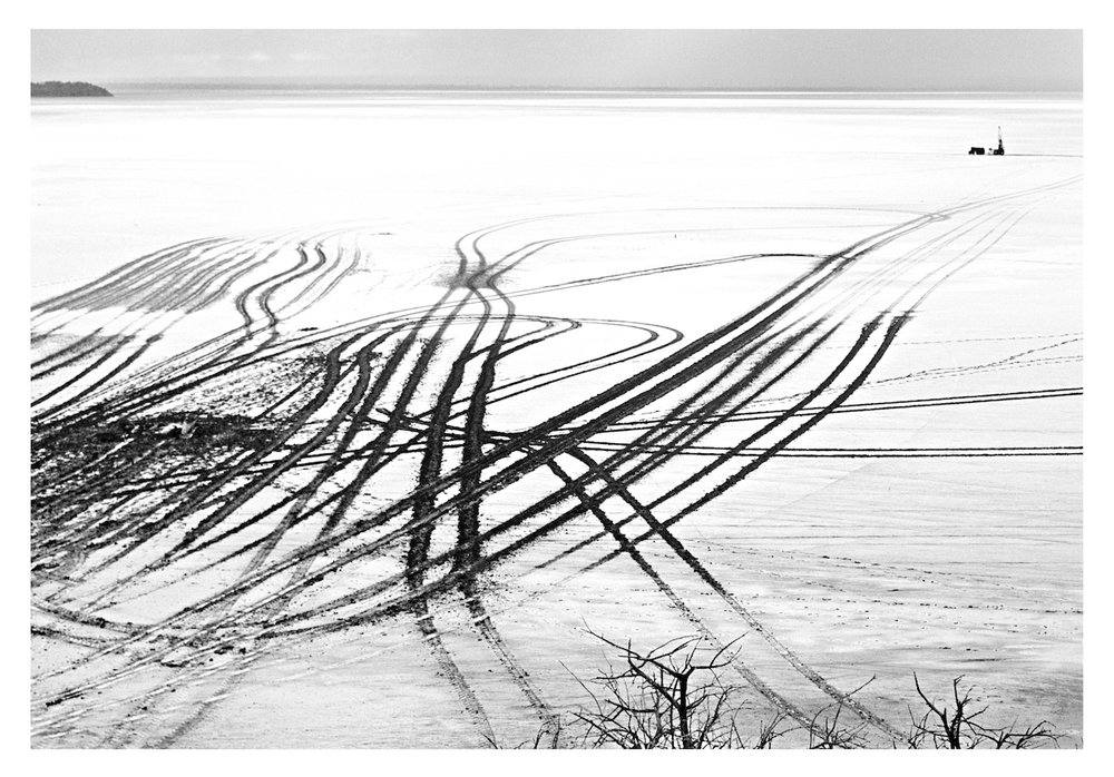 Exploration Tracks, Lake Lefroy, Kambalda WA, 1977