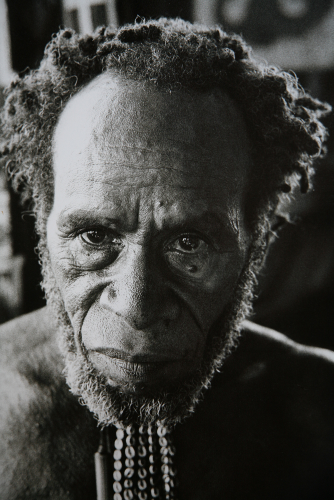 Village headsman, Baliem Valley, West Irian Jaya, Indonesia, 1971