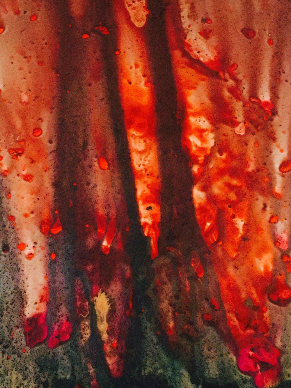 Red Curtain Interior