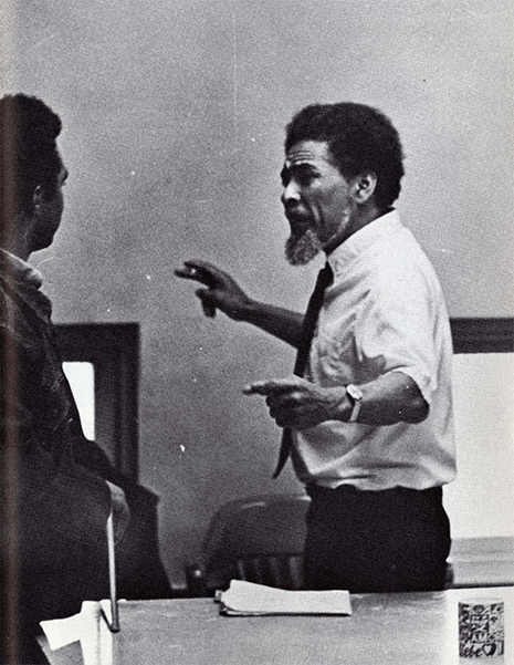 Dr. St. Clair Drake. Photo from  BLACK 70,  an African-American Stanford yearbook edited by Joyce King in 1970.