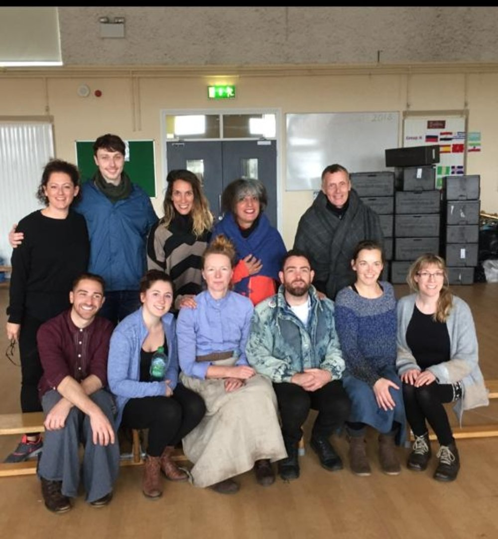 Thank you BERLIN! - A photo of some of our FISHERWIVES team including Mina and Ulli from the APT (Berlin), our European Partners. We had a great few days learning and laughing and the piece wouldn't have been the same without them. Danke Schon!