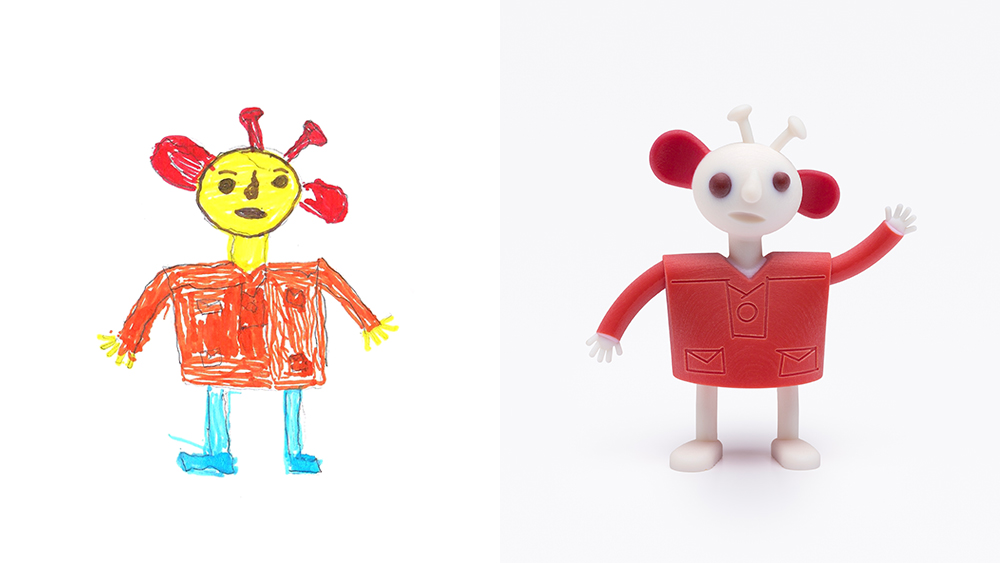 Drawing: Mays, age 6 | Design: Reddish
