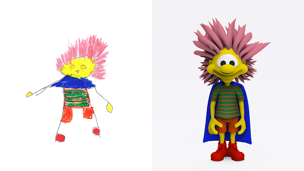 Drawing: Marac, age 6 | Design: Idan Aharonson