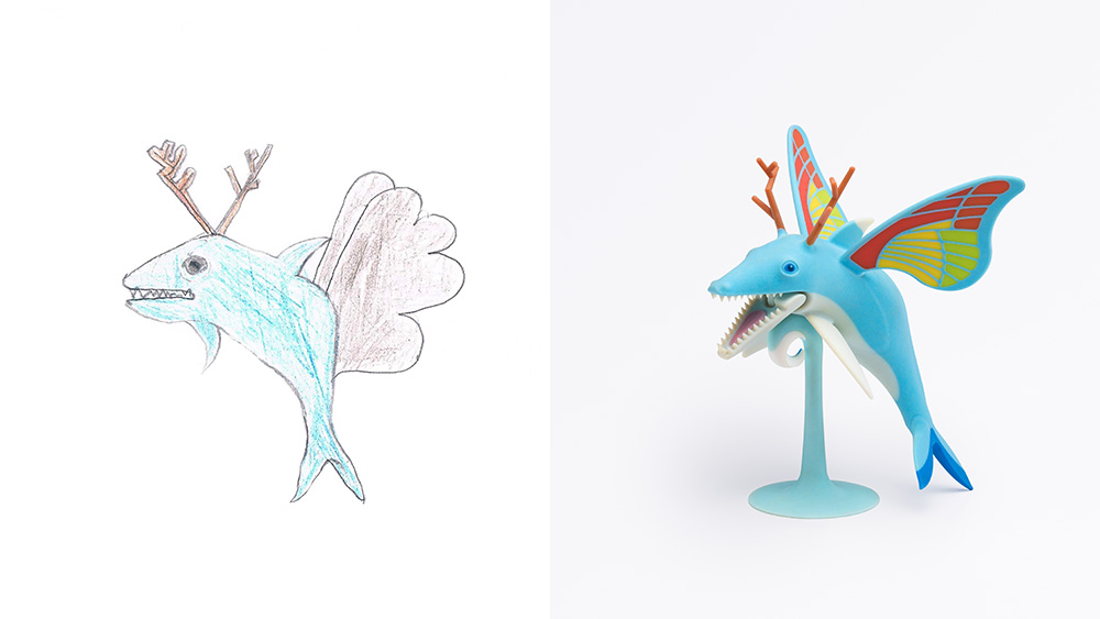 Drawing: Yonathan, age 7 | Design: Nir Applebaum