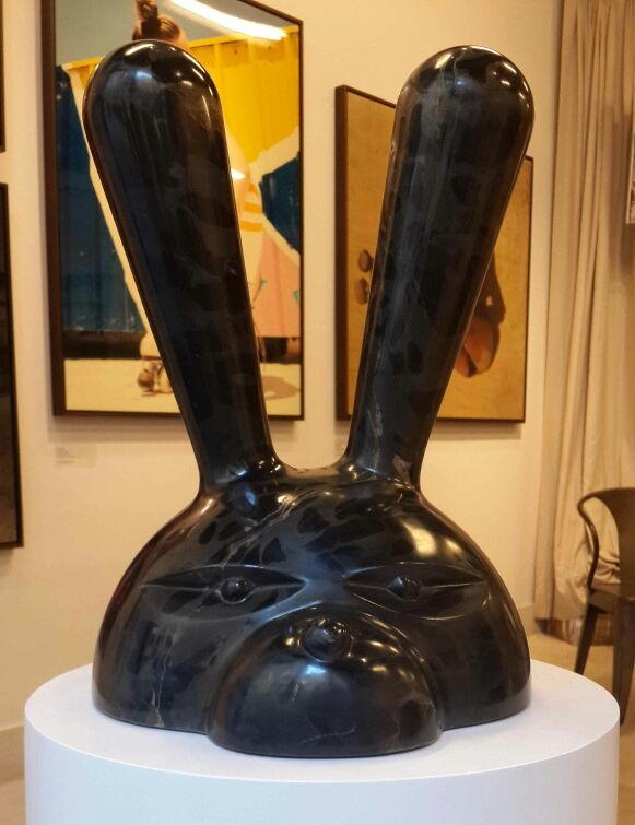 Half-figure Rabbit  Australian Gold Marble - by Dor Carmon.jpeg