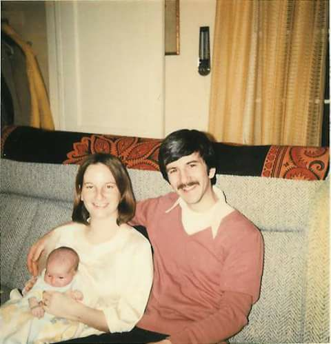 My parents with me in 1978!