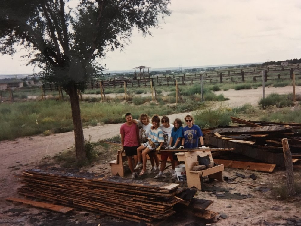 My friends and I on break from repairing the orphanage roof in Juarez, Mexico