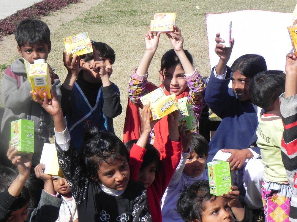 distributing children's vitamins