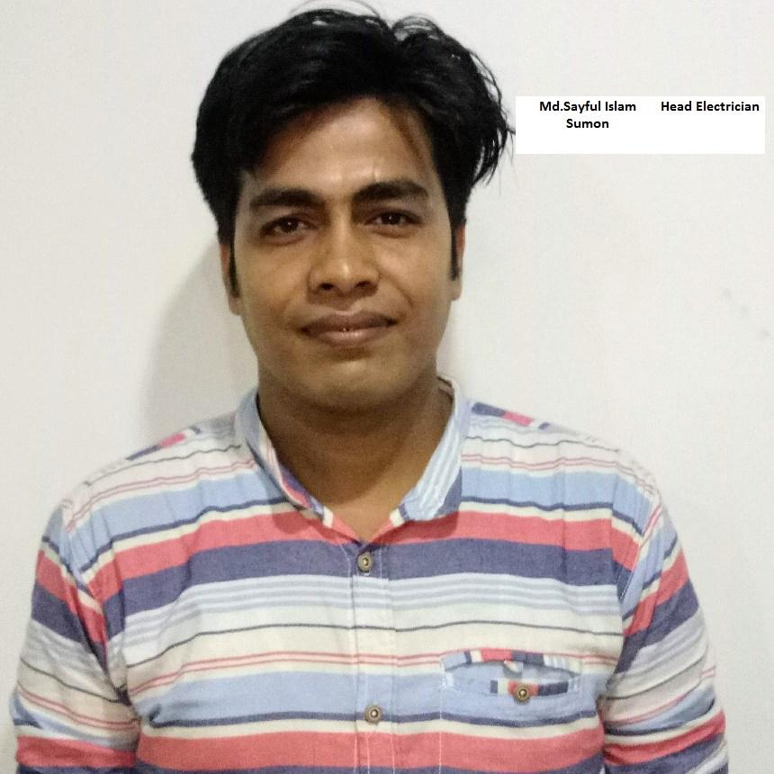 Sayful Islam Sumon - Head ELectrician