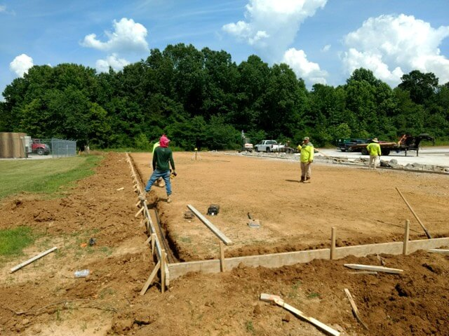 Pad Being Formed For The New Enclosed RV Building.jpg