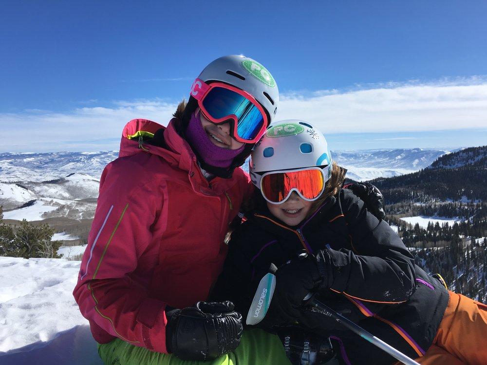 Emma & Lauren, two skiers I've had the pleasure of teaching.