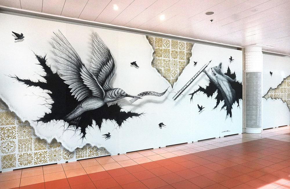 NOIR artist - Mural painting