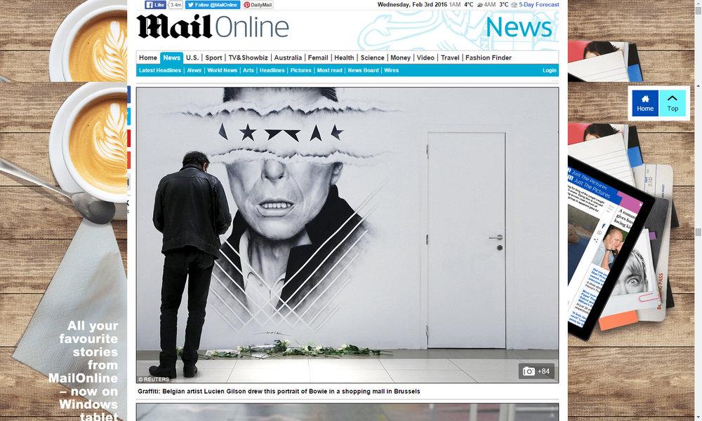 Mail online website article - NOIR artist