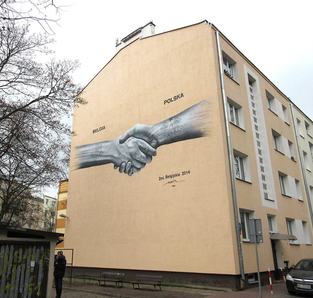 NOIR artist mural - Belgian Business Chamber - Warsaw