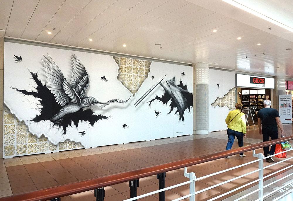NOIR artist mural - Geneva
