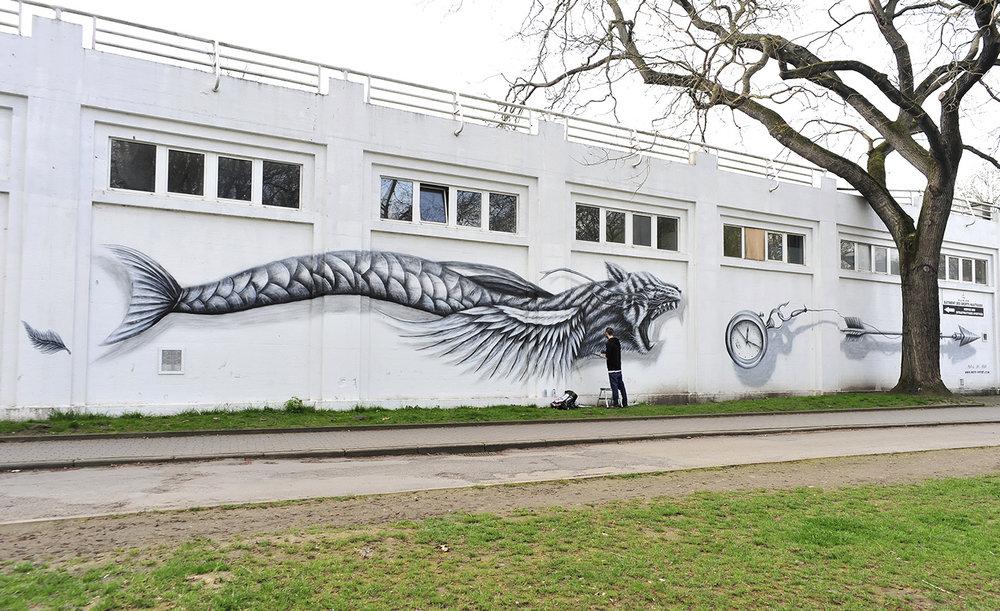 NOIR artist mural - MetamorphoseS festival - Liège