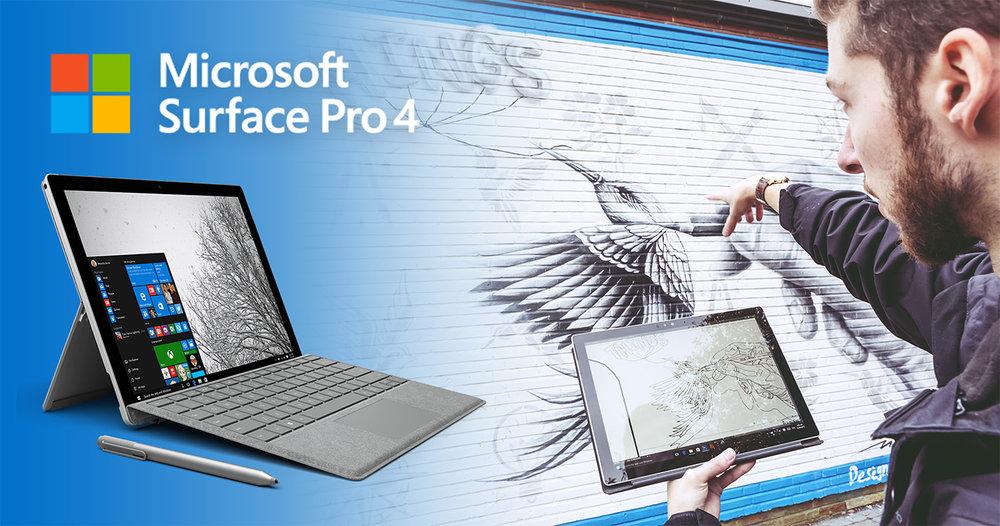 NOIR artist mural - Microsoft - Surface Pro 4