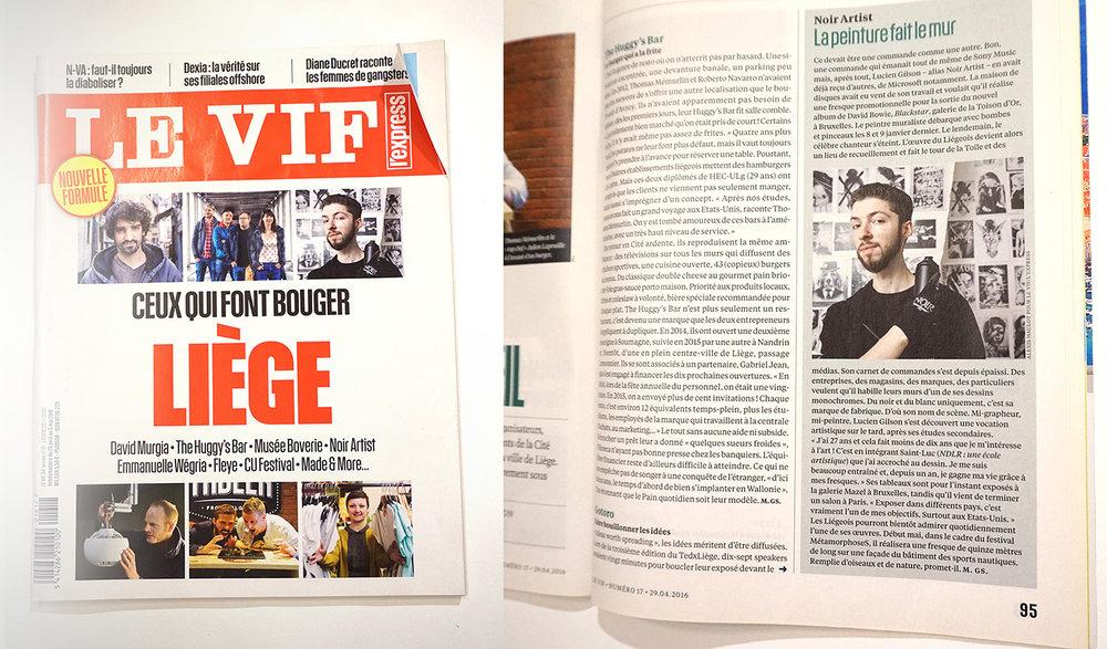 Le vif express magazine - NOIR artist