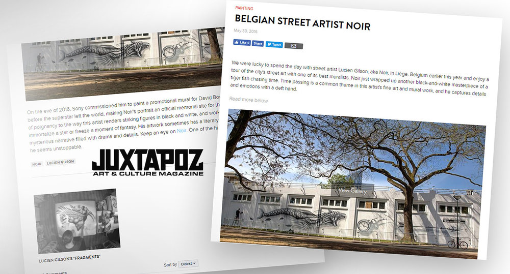 juxtapoz magazine NOIR artist - 2016