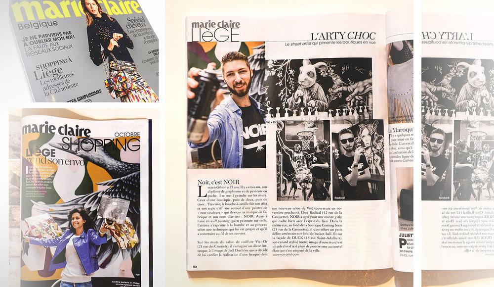 marie claire magazine - NOIR artist
